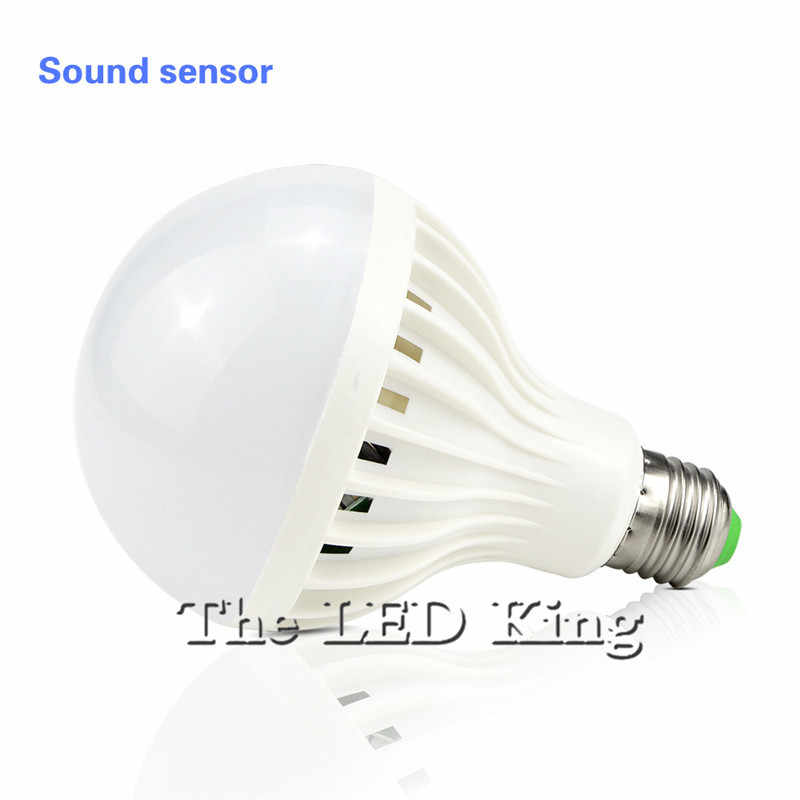 85-265V Auto Smart PIR mouvement/son + capteur de lumière E27 3w 5w 7w 9w 12w blanc détection automatique infrarouge corps lumière capteur de mouvement