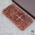Original real de madeira de bambu case para oneplus x/1 + x com seguidor padrão em relevo moda de luxo oneplus x de madeira case