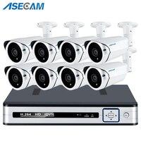 Супер 5MP 4 K HDMI H.265 POE NVR комплект ip камеры Массив CCTV Системы открытый металл пуля P2P видеонаблюдения обнаружения движения