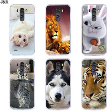 For LG G4 G5 G6 G7 Soft TPU Cover Silicone Painted Cartoon Animal Phone Bags For LG G3 D855 F400 VS985 LS990 Protective Cases(China)