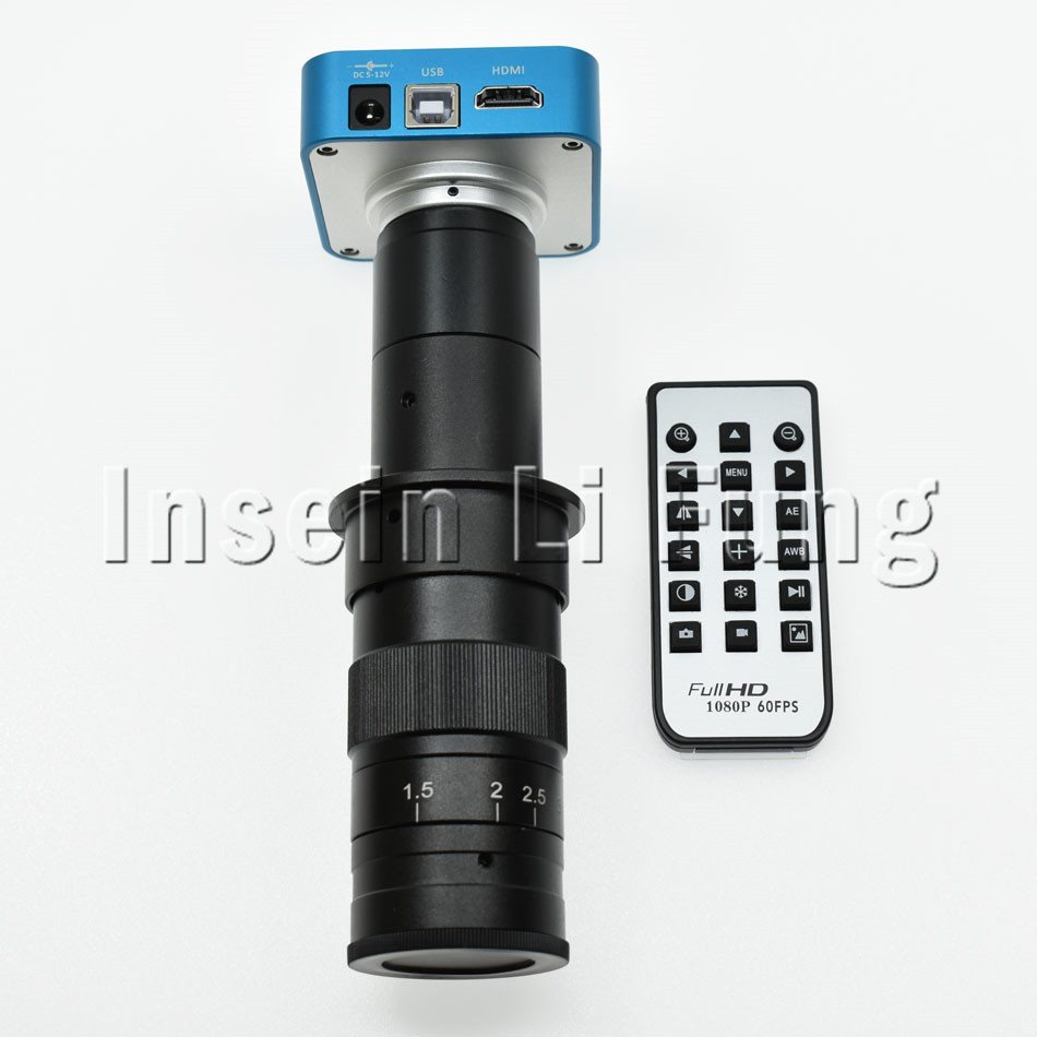 Full HD 20MP 1080P HDMI USB Industrial Digital Video Microscope Camera+10X~180X Adjustable Magnification 25mm Zoom C-mount Lens full hd 20mp 1080p hdmi usb industrial digital video microscope camera 8x 130x adjustable magnification 25mm zoom c mount lens