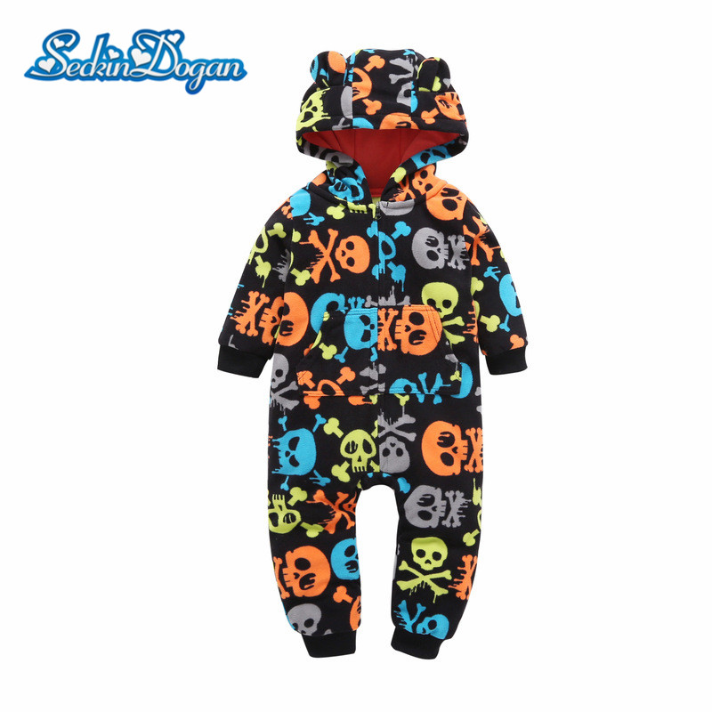 SeckinDogan Baby Clothes Spring Autumn Thick Baby Girl Romper Cartoon Hooded New born Baby Boy Clothes 3-24M Infant Jumpsuit baby clothes spring autumn hooded pikachu overalls infant romper jumpsuits newborn baby boy girl clothes