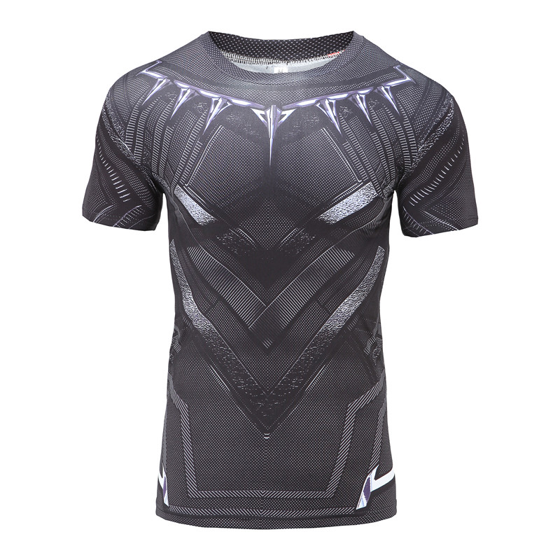 Kompression t Shirt Black Panther 3D Gedruckt T-shirts Männer Sommer - Herrenbekleidung