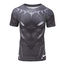 Compression t Shirt short Sleeve 3D Printed T-shirts Men 2017 Summer Fitness Male Quick Dry Bodybuilding Crossfit Tops