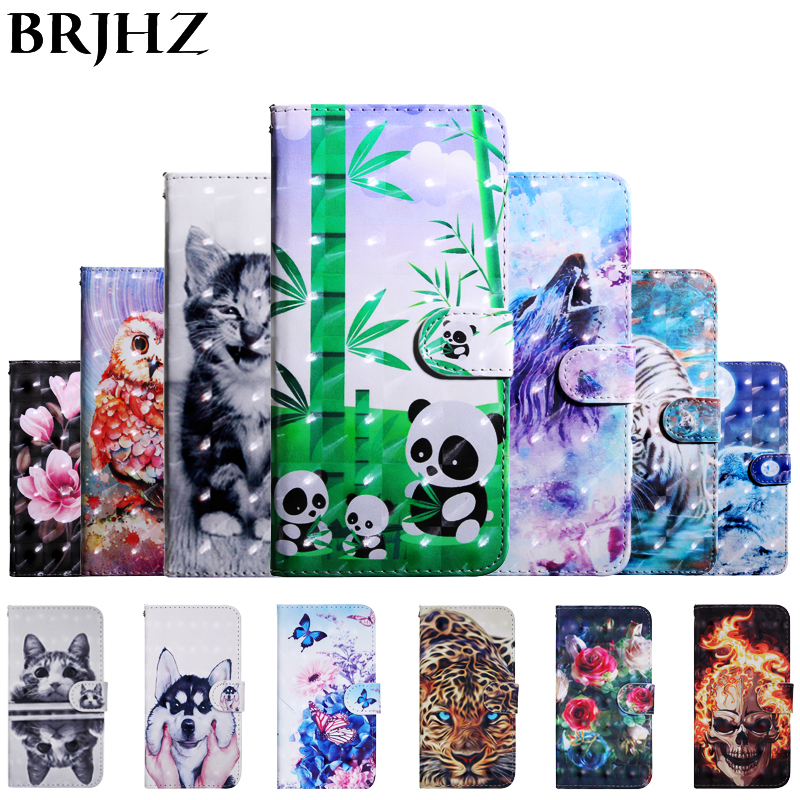 J6 2018 Case on For Coque Samsung Galaxy J6 2018 case For Fundas Samsung Galaxy J4 2018 Cover 3D Painted Wallet Stand Phone Case