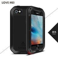 עבור iphone 5c 6 6 s 6 בתוספת מקורי Love Mei עוצמה חיים עמיד למים עמיד הלם מתכת אלומיניום כיסוי Case עבור אפל iPhone SE