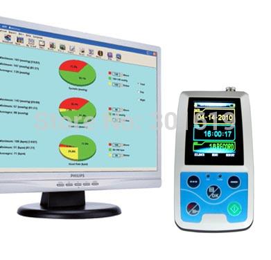 цена на 24 hours Ambulatory Blood Pressure Monitor ABPM Patient Monitor+ 3 cuffs + CD analyer software