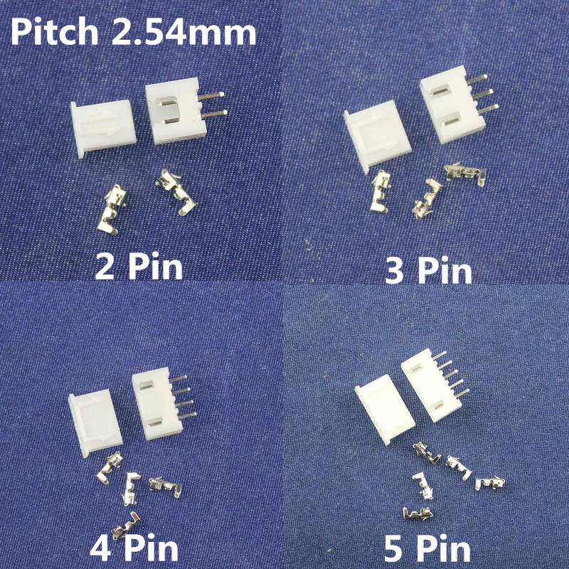 Free Shipping 50 sets 2/3/4/5 pin 2.54mm Pitch Terminal /Housing/Pin Header Connector Wire Connectors Adaptor XH-2/3/4/5Pin Kits [vk] 553602 1 50 pin champ latch plug screw connectors