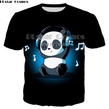 PLstar Cosmos Panda classical T-shirt New Style 3D print Shirt cartoon drop shipping