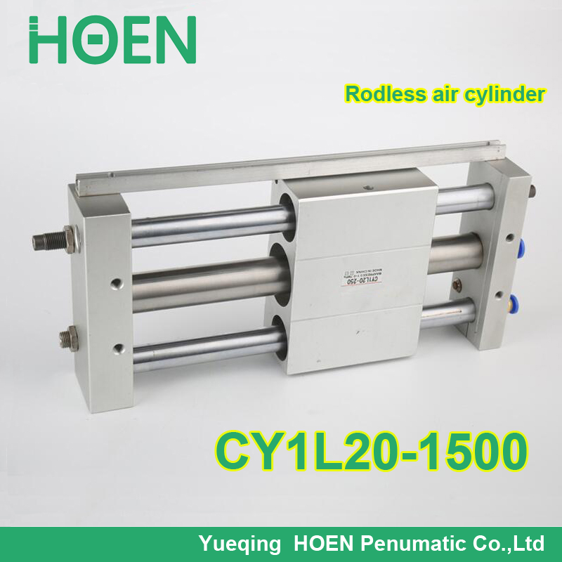 CY1L20-1500 SMC type CY1S CY1B CY1L series 20mm bore 1500mm stroke Ball Bushing Bearing Magnetically Coupled Rodless Cylinder bore 20mm x 1500mm stroke smc air cylinder magnetically coupled rodless cylinder cy1s series pneumatic cylinder