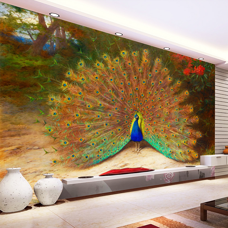 Custom 3D Photo Wallpaper Modern Peacock Large Mural For Living Room Bedroom TV Background Wall Paintings Home Decor Wallpaper