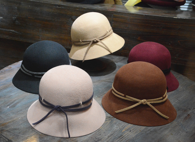 01809-HQ-FW003315 winter 100% Australia wool Delicate hand made ribbon leisure flat fedoras lady cap women wool hat