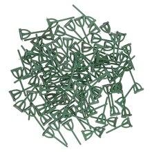 100 штук зеленые пластиковые безопасные булавки бутоньерка корсажи для свадьбы брошь для жениха DIY