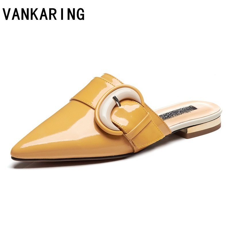 summer women shoes flat heel slides causal dress shoes flat sandals ladies pointed toe genuine leather slipper white shoes womansummer women shoes flat heel slides causal dress shoes flat sandals ladies pointed toe genuine leather slipper white shoes woman