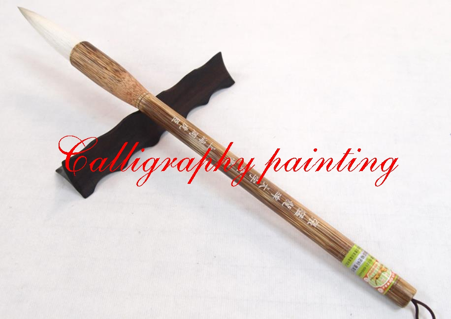 1 pc chinois Zhang MengLong Calligraphyer tige Wei frottements grande encre calligraphie brosse Couplet