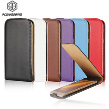 ee4bd1d34a7 Luxury Vertical Flip Cover Genuine Leather Fundas Case For Samsung Galaxy  S2 S3 S4 S5 mini