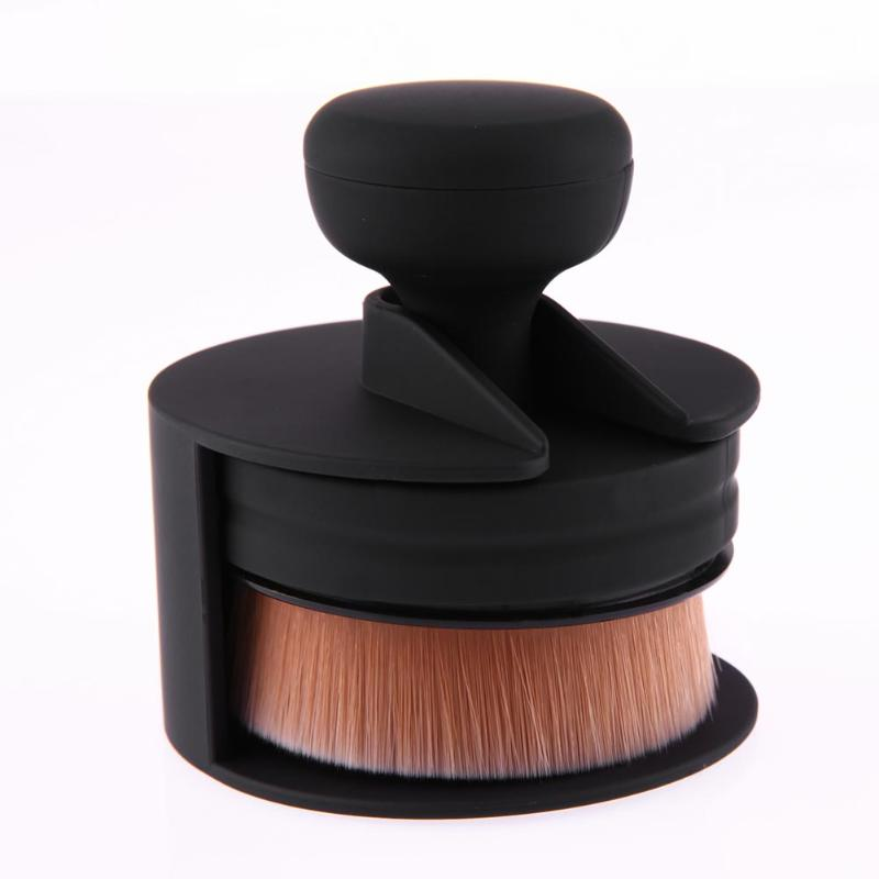 Flat Round Makeup Brush O-Shape Signet-Shape Portable Makeup Beauty Tool Large Foundation Brush Cream Powder Make Up Tool