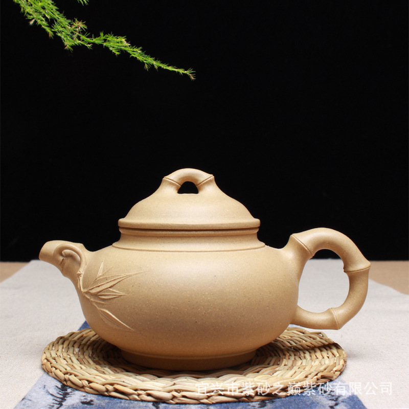 Wholesale famous ore all hand recommended period of clay teapot craftsmen NiXinAn hand-made bamboo pot of kung fuWholesale famous ore all hand recommended period of clay teapot craftsmen NiXinAn hand-made bamboo pot of kung fu