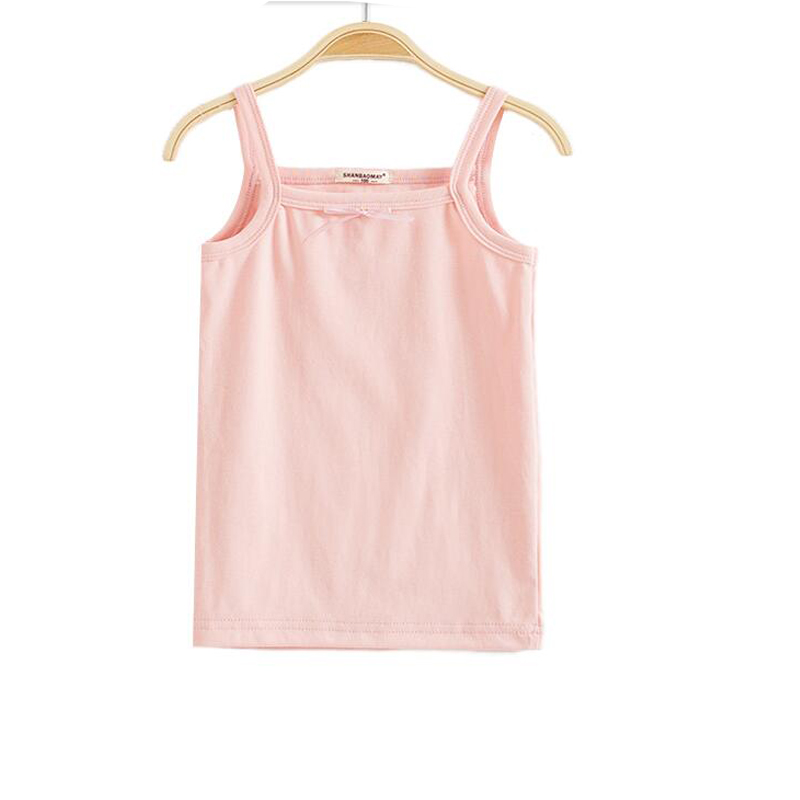 2pcs lot mix colors and sizes girl white Camisoles pink tanks for baby girl tank with