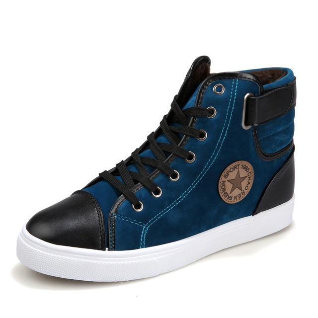 Marca Más Nuevo Caliente A Mantener Calientes Los Hombres estrella de Invierno Botas Altas calidad Ocasional Botas de Trabajo Botas Fahsion Zapatos Esenciales de todos los tamaños 39 ~ 44