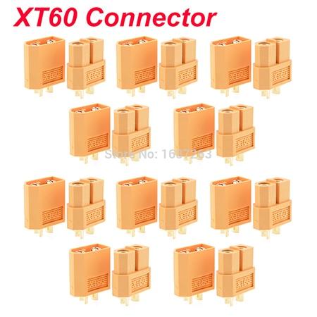 """10 пар XT30 XT30U XT60 XT60H XT90 EC2 EC3 EC5 T разъем батареи набор мужской женский Позолоченный разъем типа """"банан"""" для RC частей - Цвет: 10pairs XT60"""