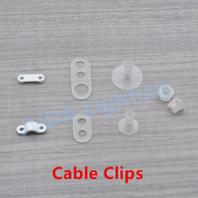 Plastic cable grip wire glands Electrical Wires fixed clip for chandeliers led bulb pendant light Curved lamp holder cable clips(China)