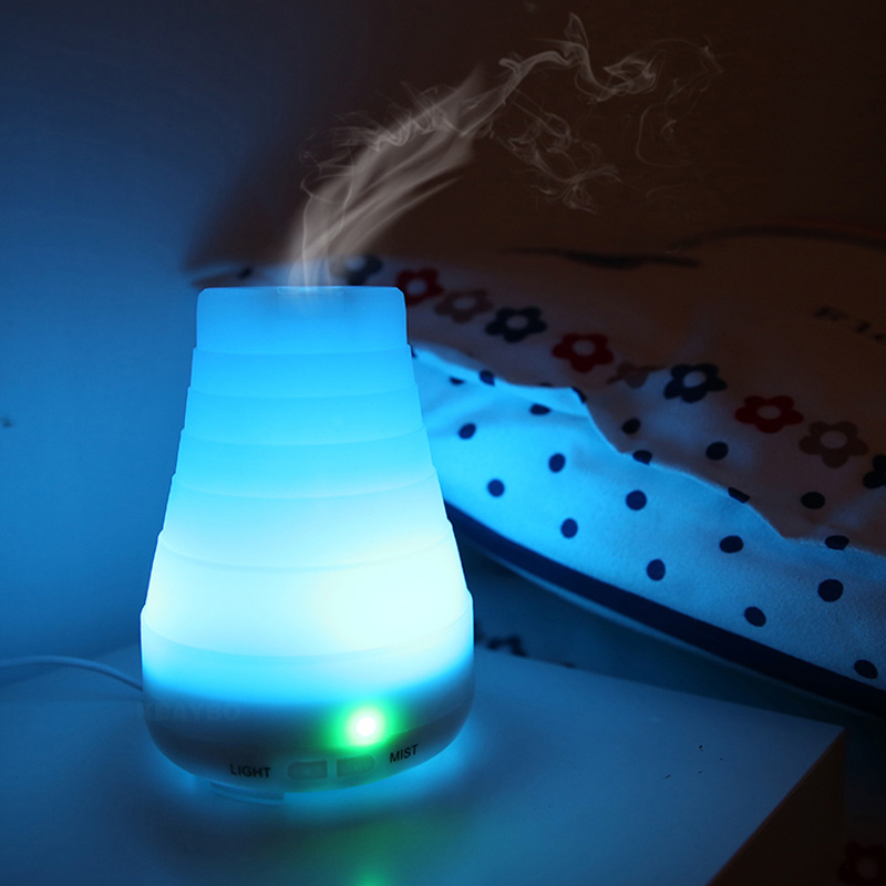KBAYBO 100ml Ultrasonic Humidifier Aroma Essential Oil Diffuser Cool Mist Humidifier Aromatherapy Diffuser With 7 Color LEDlight hot sale humidifier aromatherapy essential oil 100 240v 100ml water capacity 20 30 square meters ultrasonic 12w 13 13 9 5cm