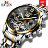 HAIQIN Автоматические Мужские механические часы лучший бренд класса люкс Мужские Бизнес часы Tourbillon Мужские наручные часы Reloj hombres 2019