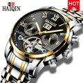 HAIQIN Automatische Mechanische Herren uhren Top Brand luxus Männer Uhr Business Tourbillon Männer armbanduhr Uhr Reloj hombres 2019