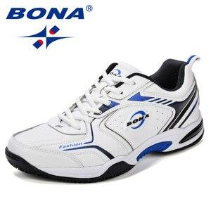 Image 2 - BONA New Popular Men Tenis Shoes Leather Outdoor Sport Shoes Classics Jogging Shoes Comfortable Trendy Man Sneakers Shoes