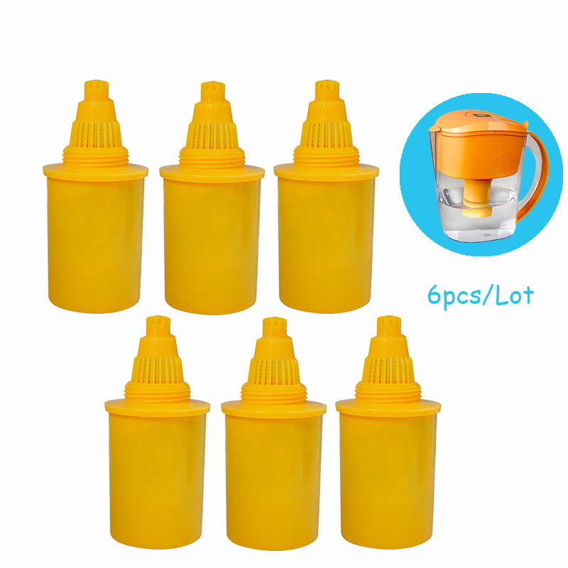 Alkaline Water Jug Replacement Cartridge 6pcs Pack for 3 5 Litres Alkaline Water Ionizer Filter Pitcher