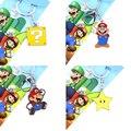 Super Mario Estrella Carácter Llavero y Collar Colgante Anime Japonés Colecciones Regalos de Los Cabritos Juguetes # F
