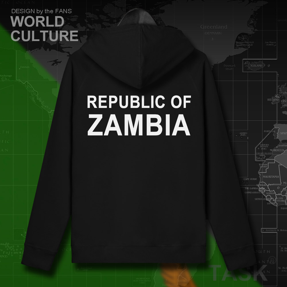 Republic of Zambia Zambian ZMB 2018 mens sweatshirt hoodies winter zipper cardigan jerseys coats men jackets and casual clothes