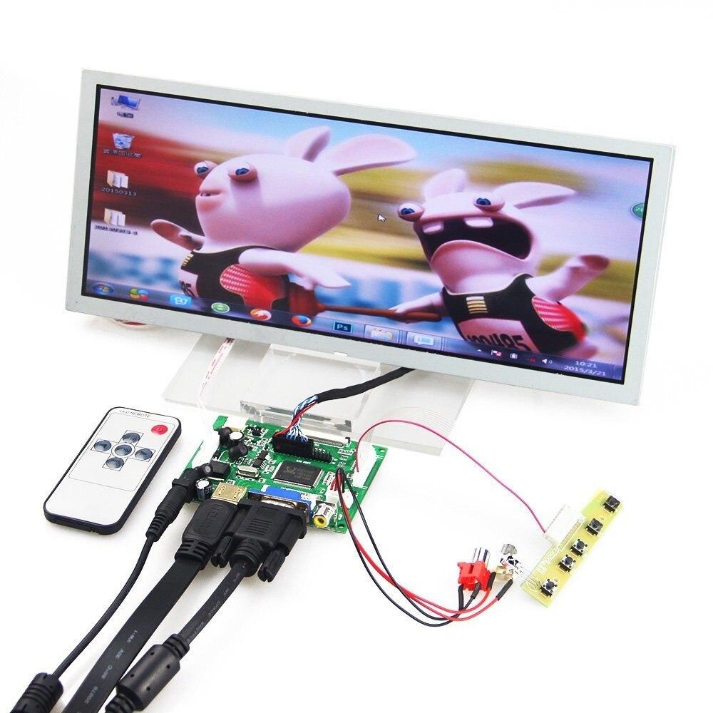 HDMI+VGA+2AV LCD Controller Drive Board +12.3 Inch 1280*480 LQ123K1LG03 LCD Panel Repartment
