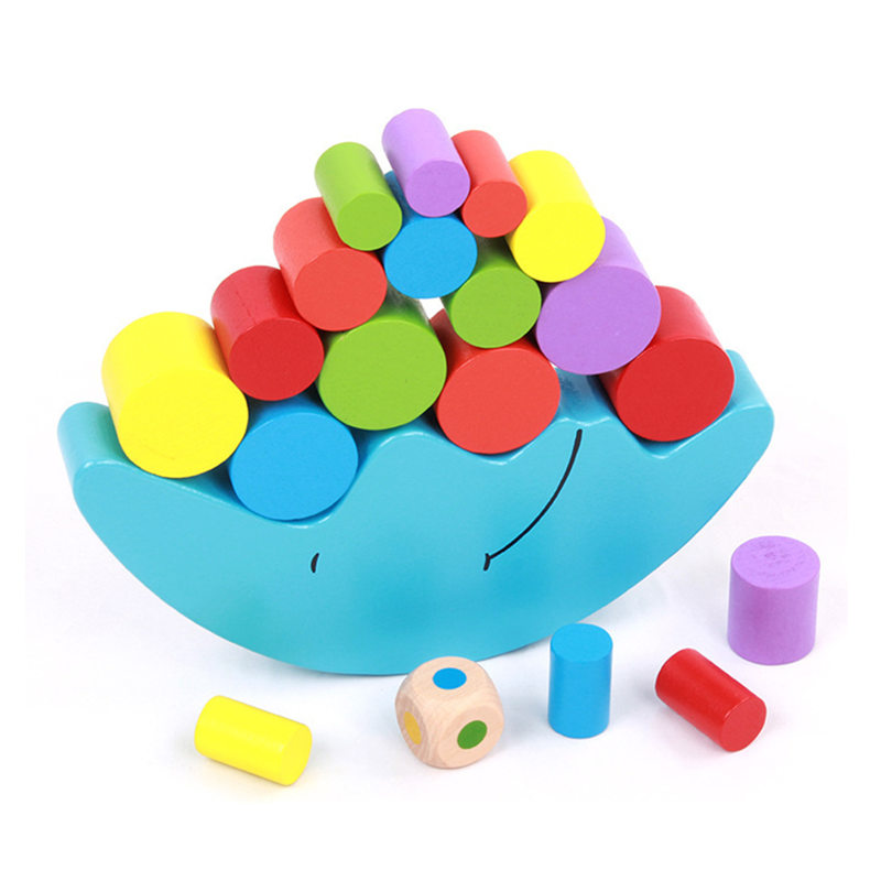 Baby Toys Moon Balancing Game Educational Building Blocks Wooden Toy Geometric Blocks Child Birthday Gift baby toys montessori wooden geometric sorting board blocks kids educational toys building blocks child gift