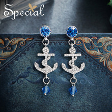 The SPEECIAL New Fashion sterling 925 sivler needle anchor modeling stud earrings for women,S2432E