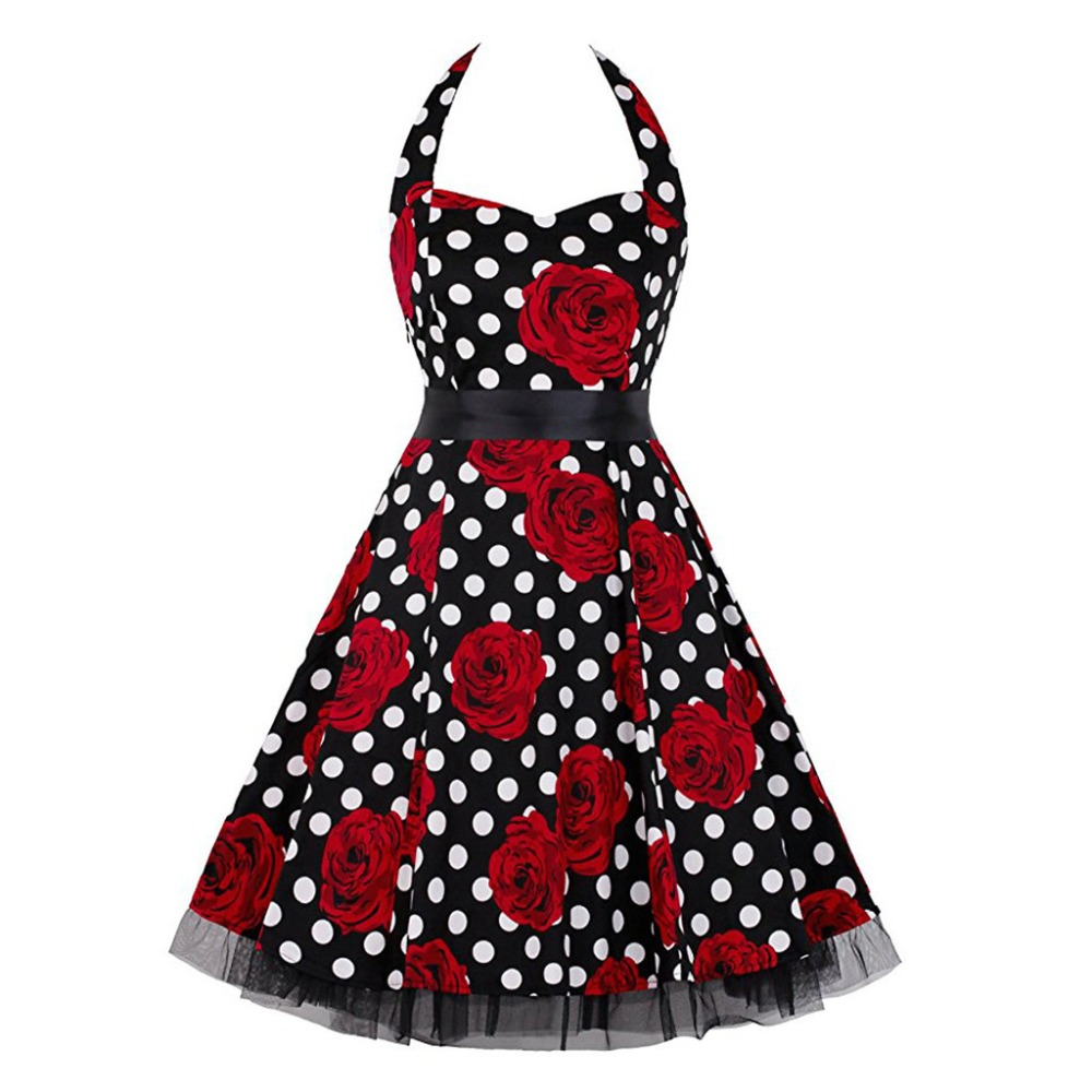 Summer Women Vintage Dress Country Rock Party Dress Female Sleeveless Ball Gown V-Neck Mini Dresses 2020 sukienki damskie BB4