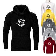 Fashion shark print funny hoodie Long sleeve men Sweatshirt Hoodies Mens Hooded Plus size Coat Jacket hooded stripe print long sleeve hoodie