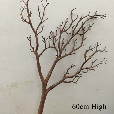 60~ 80 см искусственные Павлин Коралл сушеные ветви деревьев пластиковые искусственные цветы ветка дерева домашняя витрина Свадебные украшения - Цвет: Шоколад