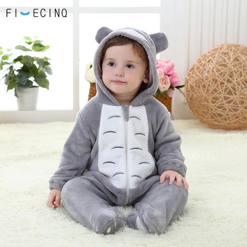 Image 3 - Totoro Cosplay Costume Baby Kigurumis Onesie Anime Gray Funny Cute Cat Pajama Infant Children Kid Soft Sleeping Suit Party Fancy    -