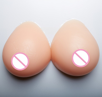 2000g/pair Silicone Fake Breast Forms Left Right Breast Prosthesis Crossdresser Fake Boobs