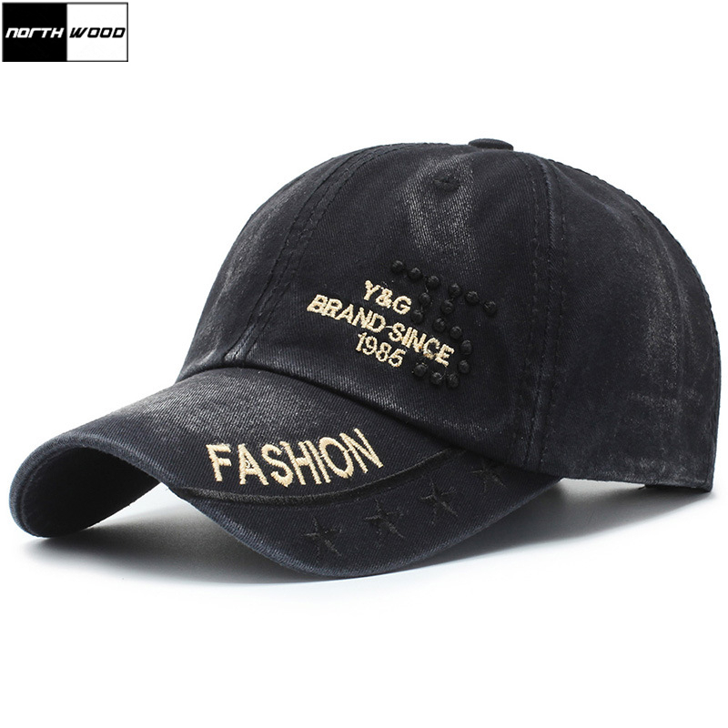 Baseball-Cap Snapback Washed Women Summer Branded NORTHWOOD Adult for Casquette Homme