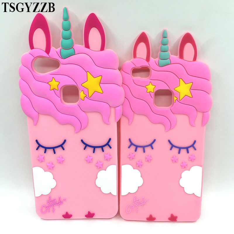 Oppo F7 Case New Cute Pink Unicorn Eyelash Horse Ears 3d Animal Cartoon Soft Silicone Phone Case Vivo V7 Plus Back Cover Oppo F5 Fitted Cases Aliexpress