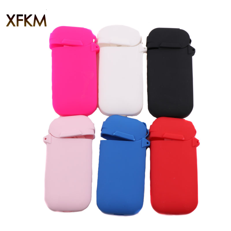 XFKM 6 Colors Red/Grey/Black/Blue/Clear Silicone Case For IQOS Pocket Charge Anti Scratch Cover Protective Case