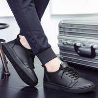 Men Casual Shoes Comfort Men Shoes True Sneakers Men Loafers Business Male Shoes Adult Office Leather Shoes Retro Men Footwear