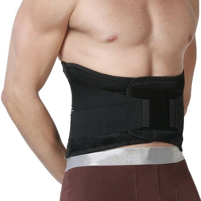 הרפואי AOFEITE גב תחתון תמיכת חגורת אורטופדי מותני מחוכים עם 4 רצועות למותן עמוד השדרה מתקן בחזרה סד גברים