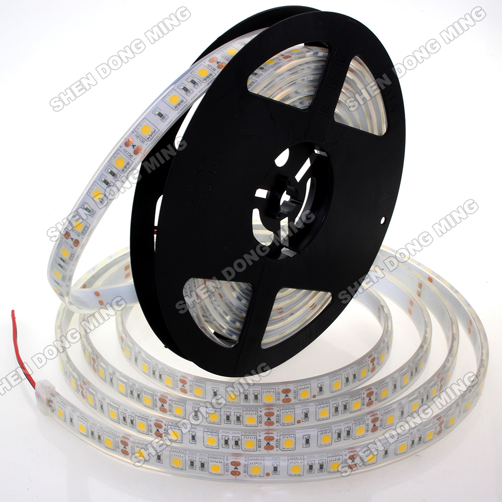 Injection Waterproof IP68 LED Strip light 5050 SMD Aquarium Pool Lighting rgb led strip 5050 RGB/White Color 5m 300 Leds DC 12V