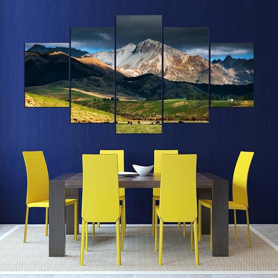 5 panel Modern New Zealand Landscape hd Art print canvas art wall ...