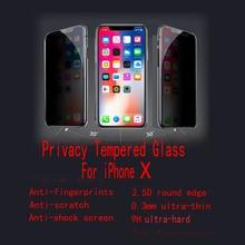 10 шт./лот FENGHEMEI надежное Закаленное стекло протектор для Apple IPhone X XS XR MAX прозрачный черный анти Peeking Guard