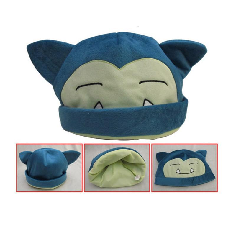 Anime hat Pokemon Snorlax hip hop cute fashion keep warm soft plush costume hat   cap   gift adult unisex